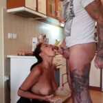 Una Alexandar – Slutty messy Mom attacked by her own son in the kitchen – Slovakian Incest SD mp4