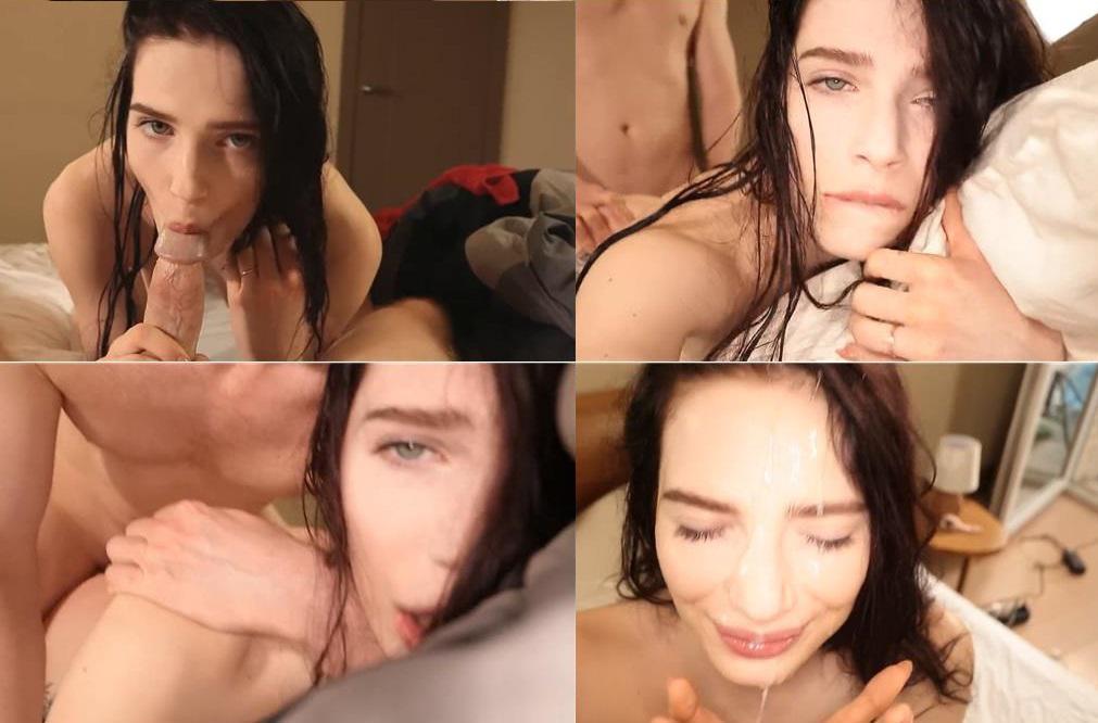 Nympho Sister Attacks Brother`s Dick After Shower - LittleReislin