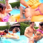 Spying on my Cute Sister in the Pool – Public Incest – Banging Family FullHD mp4
