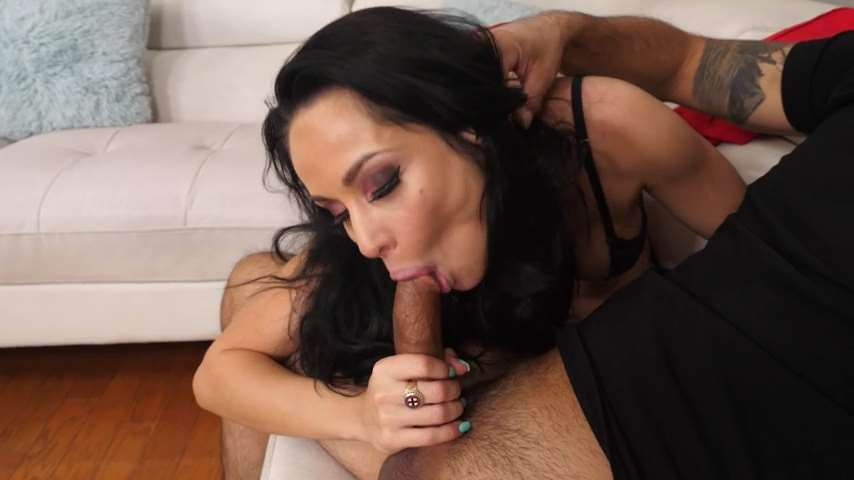 Dark Haired Mommy Rides Son`s His Hard Cock