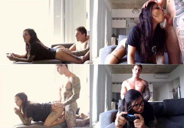 BrunAlexxx - Cute Gamer Sister Gets Fucked while Playing Videogames FullHD 1080p