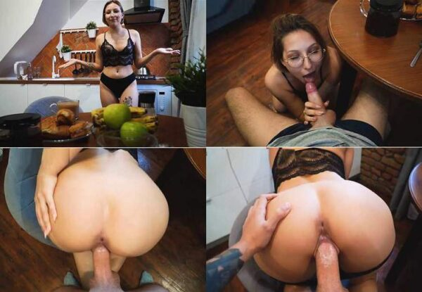JULIALEXXX - Quick Morning family Sex with My Sister before Breakfast FullHD 1080p