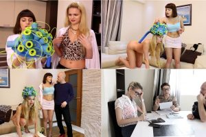 Liza K. Fetishes - Compilation Scientific Transformation -  forced stripping, nude, costumes part 2 FullHD